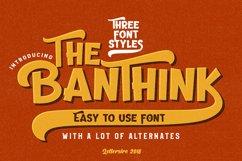 The Banthink - Retro Font Product Image 1