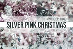 Silver, Pale Pink Christmas Backgrounds Photo Set Product Image 1