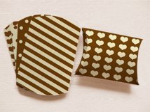 Brown Pillow Boxes to print with Stripes Polka Dots, and Hearts  Product Image 1