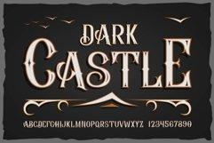 """""""Dark Castle"""" OTF vintage label font. Uppercase only! Product Image 1"""