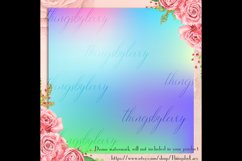 16 Rainbow Gradient Texture Digital Papers, Fairy Tale Paper Product Image 5