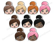 Mood 1 CUTE DOLLS Sweet Home Lady Boss Stickers PNG Files Product Image 4
