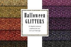 Halloween Glitters, Dark Purple, Black Glitter Texture Product Image 1