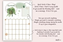 Printable Planner plus Free Stickers, Plants Planner, PDF Product Image 2