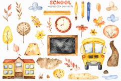 SCHOOL. Watercolor collection. Clipart, cards, patterns Product Image 10