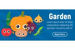 Garden concept banner, isometric style Product Image 1