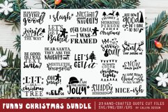 Funny Christmas Phrases SVG Cut File Bundle Product Image 1