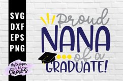 Graduation SVG EPS DXF PNG | Graduate Nana SVG Product Image 1