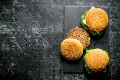 20 Photos Burgers with sauces and spices. Burger backgrounds Product Image 4