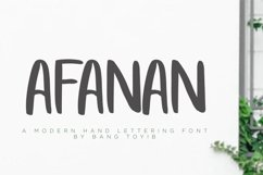 AFANAN - Handmade Font Product Image 1