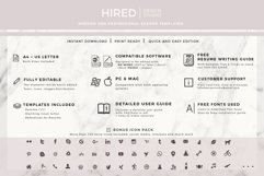 Resume and Cover Letter Template   Minimalist Resume CV Product Image 10