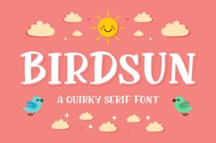 Birdsun - Playful Font Product Image 1