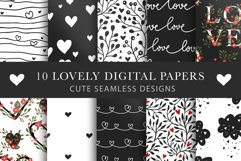 Valentines Day Seamless Pattern Set. Product Image 1