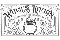Witch's Witches Kitchen - Cauldron - Halloween SVG DXF EPS Product Image 3