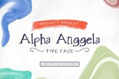 Alpha Anggela - 18 Font styles and 150 Swashes Product Image 1
