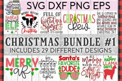 Big Christmas Bundle of 29 SVG DXF PNG EPS Cutting Files #1 Product Image 1
