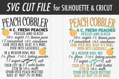 Peach Cobbler Recipe SVG | Kitchen SVG | SVG DXF Files Product Image 3