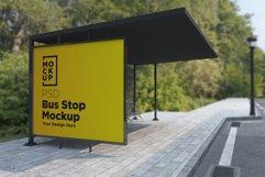 Bus Shelter Advertising Sign Mockup Product Image 1