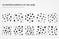 Paw Prints Seamless Patterns Product Image 5