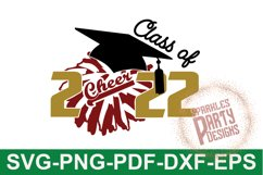 Class of 2022 Cheer Senior Sublimation SVG DXF PDF PNG Product Image 1
