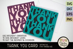 Thank You Card SVG - Thanks Card Cutting File, DXF, PNG, EPS Product Image 3