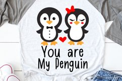 You Are My Penguin Svg, Valentines Day Svg, Kids Valentines Product Image 1