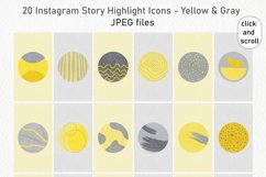 20 Abstract Instagram Story Highlight Icons - Yellow & Gray Product Image 5