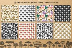 Mushrooms. Botanical, natural, floral seamless patterns. Product Image 2
