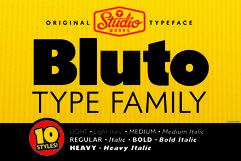 Bluto   Sans Serif Type Family Product Image 1