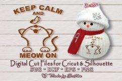 Keep Calm and Meow On - SVG cut file Product Image 2