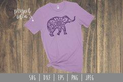 Elephant Mandala Zentangle Bundle Set of 4 - SVG Product Image 4