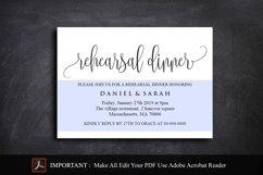 Rehearsal Dinner Invitation, Rehearsal Dinner Template Product Image 2