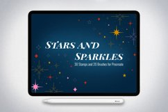50 Stars and Sparkles Stamps and Brushes for Procreate Product Image 1