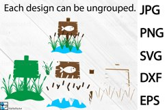 Fishing Designs - Clip art / Cutting Files 101c Product Image 3
