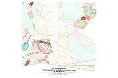 Planner Girl Digital Paper Pack Planning Fashion Product Image 2