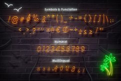 Sunset Club Script Neon Font Product Image 6