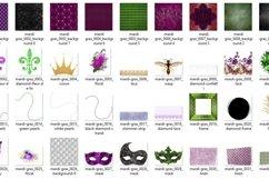 Mardi Gras Digital Scrapbook Kit Product Image 2