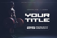 GYM Awesome Font Product Image 6