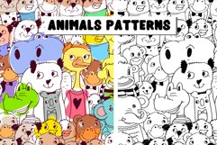 Animals patterns EPS, PNG, JPEG. Product Image 1