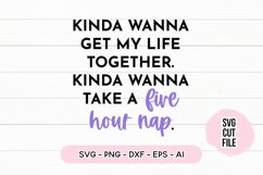 Funny SVG I Wanna Take a 5 Hour Nap SVG Product Image 2
