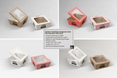 Paper Tapered Window Boxes Packaging Mockup Product Image 2