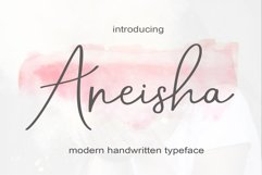 Aneisha Script   WEB FONT Product Image 1