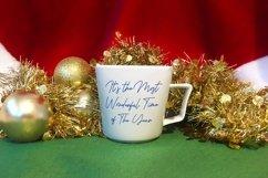 Christmas Mug Mockup, A White Cup Mock-Up for Xmas PSD & JPG Product Image 5