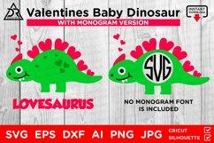 Valentines Baby Dinosaur SVG Product Image 1