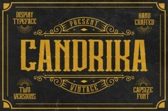 Candrika - Vintage Label Display Typeface Product Image 1