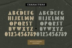 Pinmold - Modern Stencil Font Product Image 4
