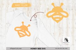 Honey Bee SVG Bumble Bee SVG Bee Cut File Bee Clipart Kids Product Image 4