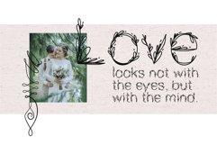 Garden floral romantic font Product Image 2