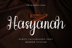 Hasyanah - Script Calligraphy Font Product Image 1