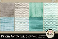 Beachy Watercolor Chevron Background Textures Product Image 2